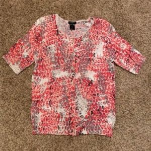 Ann Taylor patterned cardigan